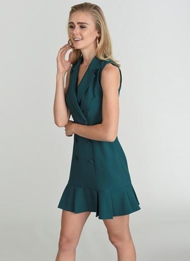 People By Fabrika Ceket Elbise Yeşil